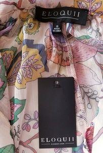 Eloquii Dresses - 🌺NEW🌺  Eloquii Tie Neck Trapeze Dress